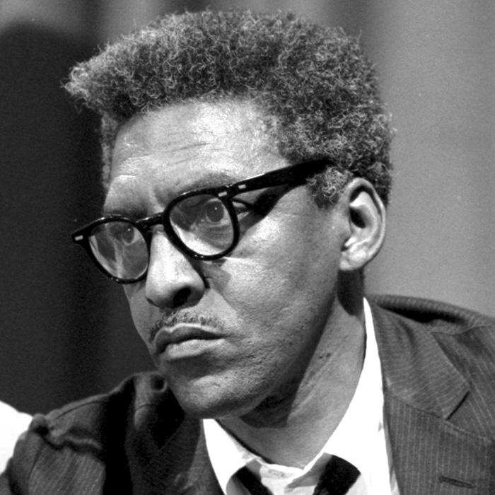 Headshot of civil rights advocate and leaderBayard Rustin