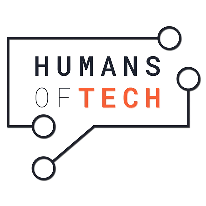 "Humans of Tech logo with ""Humans of Tech"" written inside of connecting lines"