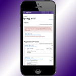 iphone with MyPlan Registration Preview on purple backgroun