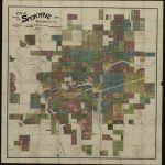 A land plan of Spokane, Washington