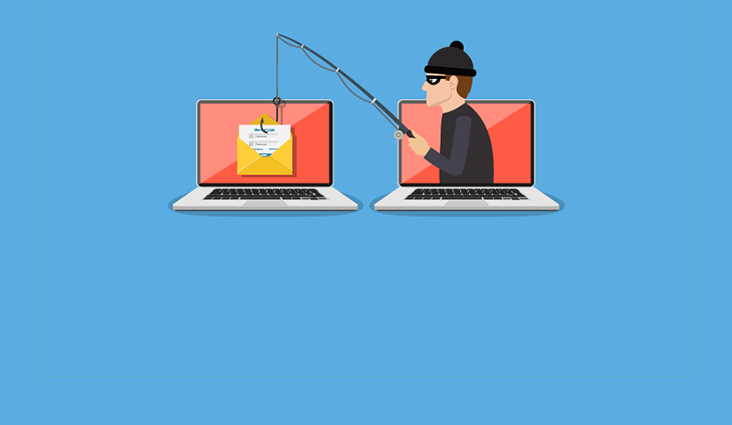 Animated image of a phishing attempt