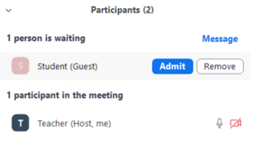 Move student into meeting