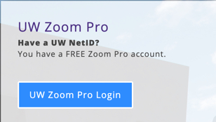 UW Zoom Pro Login
