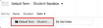 Student assignment folder