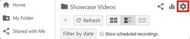 select folder settings on screen