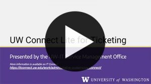 A demo of UW Connect Lite