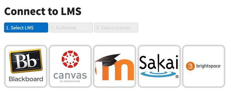 Choose Canvas as the LMS option