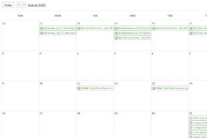 screencapture of calendar