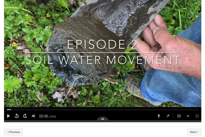 Screen capture of a virtual field trip video