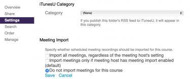 import settings screen