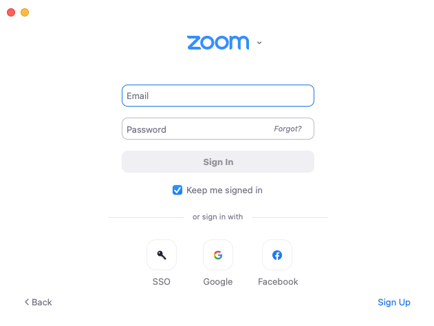 Zoom Software Sign In Select the SSO option