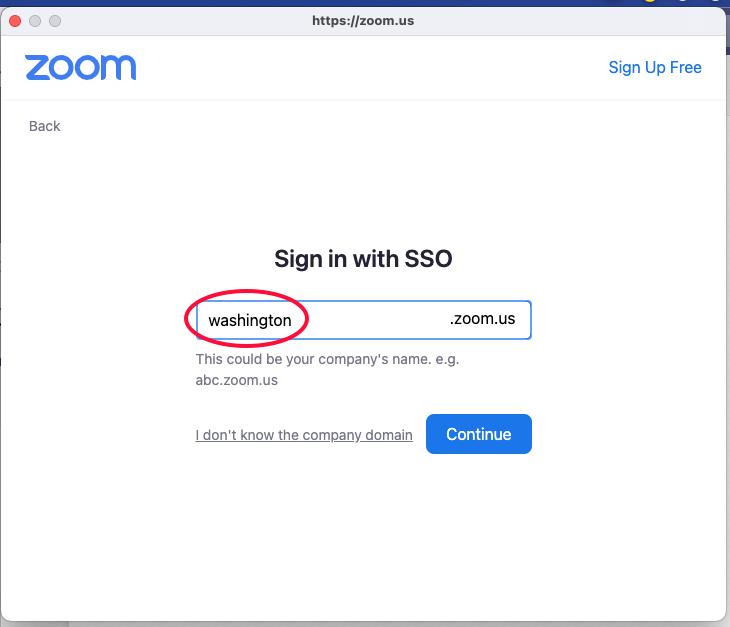 Image showing washington company domain in text field